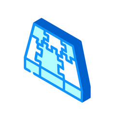 Rubber cover floor isometric icon vector