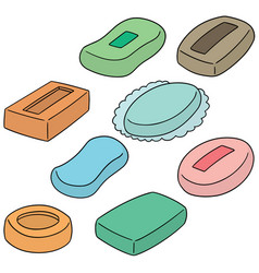 set of soap vector image