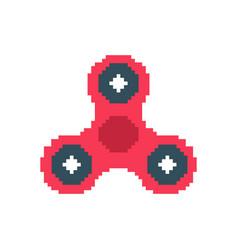 Spinner pixel art fidget finger toy pixelated vector