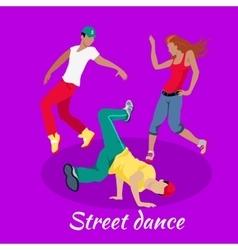 Street Dance Concept Flat Design vector