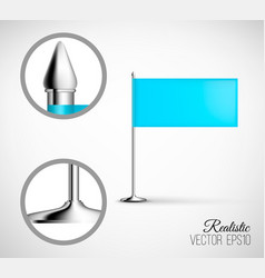 table flag template vector image