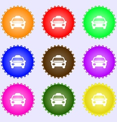 Taxi icon sign big set of colorful diverse vector