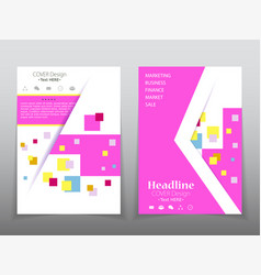 template design layout brochure geometric vector image