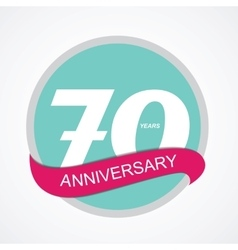Template Logo 70 Anniversary vector image