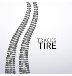 tire tracks on white isolated elements for vector image