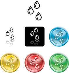 water droplets vector image