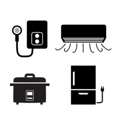 water heater air conditioner rice cooker icons vector image