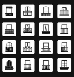 Window forms icons set squares vector