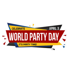 world party day banner design vector image