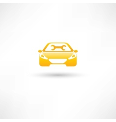 yellow front car vector image