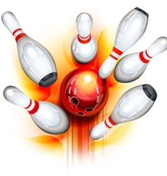 Bowling game top view vector image vector image