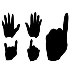 Cartoon hands with gestures vector