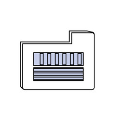 digital folder symbol vector image
