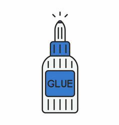 glue icon vector image vector image