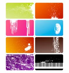 grunge cards vector image vector image