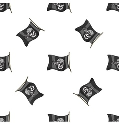 Hand drawn pirate seamless pattern vector image vector image