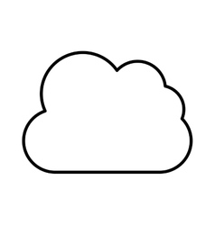 Lineal web cloud design vector image vector image
