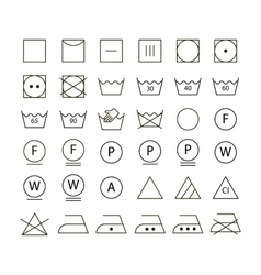 Set of washing symbols vector image vector image