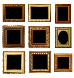 set retro frame vector image