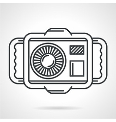 Sport camera black line icon vector image