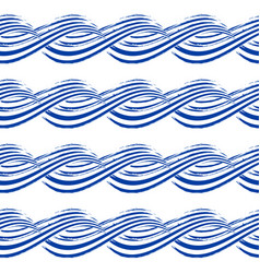 seamless pattern with hand drawn waves vector image vector image