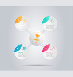abstract modern circle infographic background vector image