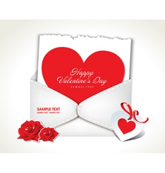 Envelope Love Valentine Day vector image