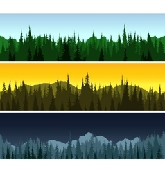 Forest panorama set vector image