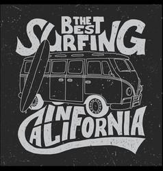 california best surfer poster vector image