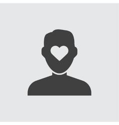 Heart in head icon vector image