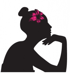 lady silhouette vector image vector image