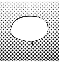 Oval Speech Bubble on Pop Art Background vector image vector image