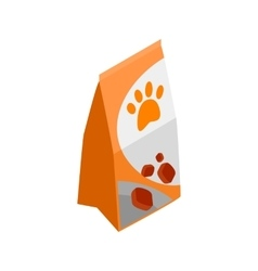 Packing of dog food icon isometric 3d style vector image vector image