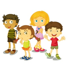 4 kids vector image