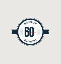 60 years anniversary celebrations retro circle vector