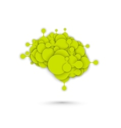 Abstract brain metaball graphic vector
