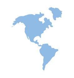 america map icon vector image