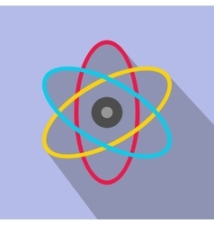Atom modern flat icon vector image