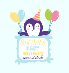 baby shower badge happy mothers day insignias vector image