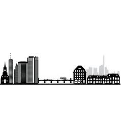 Basel city skyline vector