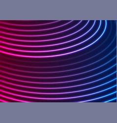 bright blue purple neon wavy lines abstract vector image