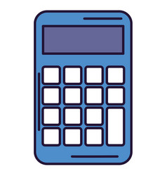 calculator device isolated icon vector image