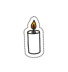 candle doodle icon vector image