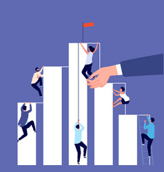 career competition growth ladder corporate vector image