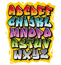 Cartoon comic doodle font alphabet vector