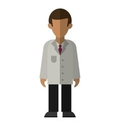 character doctor uniform health vector image