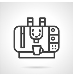 Coffee machine simple line icon vector image vector image