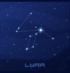 constellation lyra lyre night star sky vector image