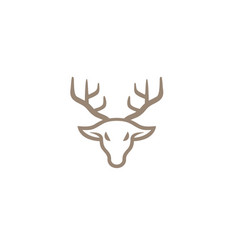 creative deer head line logo design symbol vector image