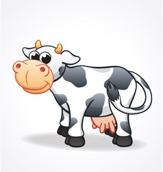 cute cow cartoon character vector image